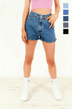 GRADE A LEVIS VINTAGE WOMENS HIGH WAISTED HEMMED DENIM SHORTS 6 8 10 12 14 16 18