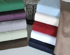 US Califonia King Size Bedding Items 1000 TC Egyptian Cotton Solid/Stripe Colors