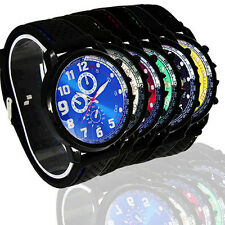 Men's Fashion Outdoor Sport Military Army Casual Silicone Wrist Watch Candid