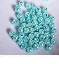 Shades of Blue & Teal 4mm Round Glass Pearl Beads 50 pcs Jewellery Making Crafts