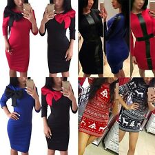 Sexy Womens Long Sleeve BodyCon Bandage Evening Cocktail Party Pencil Mini Dress
