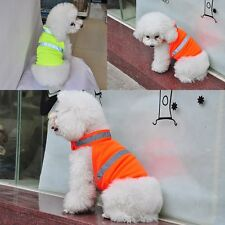 Small Pet Dog Reflective Safety Vest Puppy Cat Cozy Coat Clothes Apparel Outwear