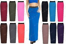 Ladies Gypsy Long Jersey Bodycon Maxi Skirt Women Fancy Dress Party Summer Skirt
