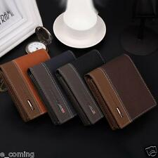 Mens Leather Bifold Money ID Credit Card Holder Wallet Coin Purse Clutch Pockets