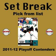 (HCW) 2011-12 Panini Playoff Contenders NHL Hockey Cards - You Pick From List