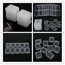 10Pcs SDHC SD TF White Holder Memory Card Protection Storage Plastic Case Box