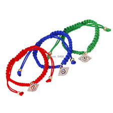 Red Cord String Eye Charms Lucky Adjustable Bracelet Protection Evil Eye, Succes