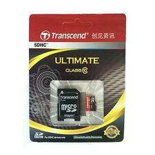 Transcend Micro SD Card 16G 32G 64G TF Flash Memory Card With Adapter Class10 U1