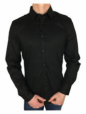 Antony Morato Gold Super Slim Fitted Shirt in Black Medium