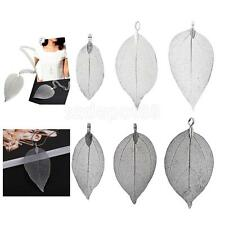 1x Vintage Leaf Shaped Charms Pendant Findings for DIY Jewelry Making Crafts
