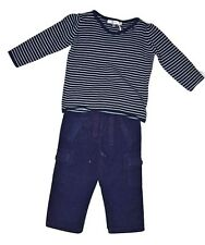 FOX & FINCH BABY BOY JUMPER LONG SLEEVE TOP & CORD PANTS SET - STRIPES  SIZE 18m