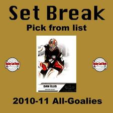 (HCW) 2010-11 Panini All Goalies NHL Hockey Cards Set Break- You Pick
