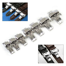 Watch Butterfly Deployment Button Strap Clasp Buckle Stainless Steel 10-22mm