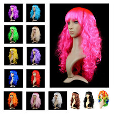 Women Sexy Long Curly Fancy Dress Up Wigs Cosplay Costume Ladies Full Wig Party