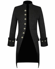 Mens Jacket Black Brocade Gothic Steampunk Victorian Frock Coat