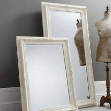 Traditional Antique White Shabby Chic Baroque Framed Mirror