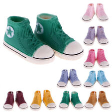 Casual Lace Up High Top Canvas Sneaker Shoes Canvas Shoes for 1/6 BJD Doll 3.7cm