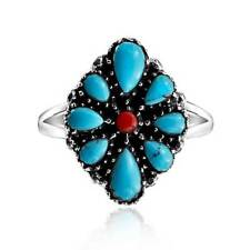 Bling Jewelry Reconstituted Turquoise Southwest Style Sterling Silver Ring