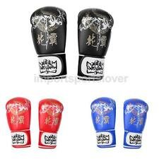 PU Leather Boxing Gloves Sparring Muay Thai Kickboxing MMA Punch Bag Mitts