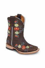 Kids Youth Honey Brown Rodeo Western Leather Cowboy Boot BONANZA 3201 Size 7-1.5
