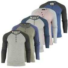 Mens T Shirt by Brave Soul 'Rasmus' Crew Neck Long Sleeved Top S-XL