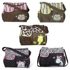 New Cute Animal Baby Diaper Nappy Bag Shoulder Travel Bag with Changing Pad