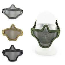 Half Face Metal Mesh Airsoft Wire Mask Tactical Hunting Protection Masks