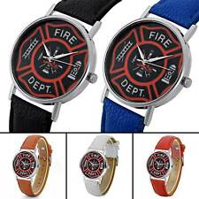Leather Mens Watches US Fire Fighter Quartz Watch Womens Wrsitwatches Sport Gift