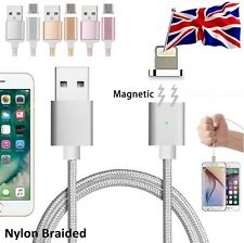 Nylon Braided Magnetic USB Data Charger Charging Cable fr iPhone 7 iPad mini pro