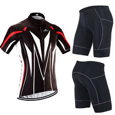 Men's Cycling Jerseys Padded Shorts Sets Elastic Tights Bicycle Biking Clothing