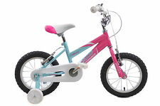"AMMACO 14"" MISTY GIRLS BIKE AGE 4 YEARS + BMX PINK AND BLUE WITH STABILISERS"