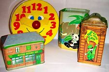COLLECTABLE TIN  MONEY BOXES 1960/2000 click SELECT - to browse or order