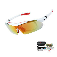 Pro Polarized Sunglasses Cycling Goggles Outdoor Sports UV400 5 Lens 5 color