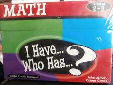 I have...Who Has...? Math Interactive Game Cards Grades 2-3 Teacher Resource