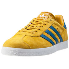 adidas Gazelle Unisex Trainers Yellow Blue Gold New Shoes