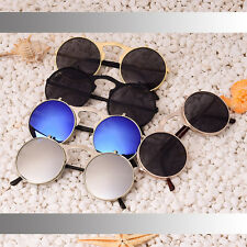 Cool Flip Up Round Lens Retro Vintage Style Steampunk Goggles Metal Sunglasses