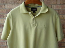 Men's Black Brown 1826 Yellow Short Sleeved 2 Button Collared Shirt Size L