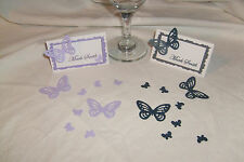 12 PERSONALISED WEDDING TABLE NAME CARDS ANNIVERSARY B/DAY XMAS HEN CHRISTENING
