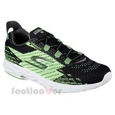 Shoes Skechers Go Run 5 Comfort 54118 bkgr Men Sneakers Black Green Casual