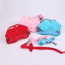 Pink Red Blue Angle Wing Adjustable Harness Pet Dog Puppy Nylon Leash Lead Strap