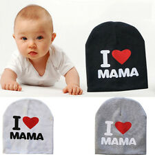 "Toddler Kids Girl&Boy Baby Infant Cute Cotton Hat Beanie Cap ""I love MAMA/PAPA"""