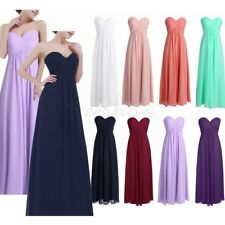 Women Chiffon Long Dress Evening Formal Party Ball Gown Prom Bridesmaid Dresses