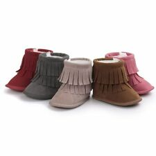 Winter Warm Infant Baby Toddler Soft Sole Crib Shoes Tassel Anti-Slip Snow Boots