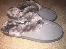 Womens Mossimo Genuine Suede Chandra Slipper Shoes Gray Size 6, 8, 9 or 10 NEW