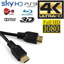 HDMI HD 1080P Version 1.4 Gold Lead Cable Cord for PS3/4 SKY TV 3D