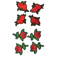 4 PCS Romantic Style Chic Embroidery Iron On Applique Clothes Patch