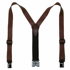 New Perry Suspenders Men's Leather Dress Hook End Suspenders