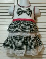 Sweet Heart Rose Baby Dress Baby Girls Sleeveless Dress Lace Plaids Checks $32.