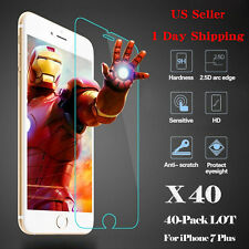HOT 40x Wholesale Tempered Glass HD Screen Protector Film for iPhone 7 Plus