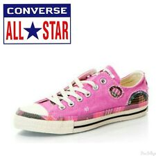CONVERSE ALL STAR WOMENS COLOURFUL PALE PINK CASUAL PLIMSOLLS TRAINERS
